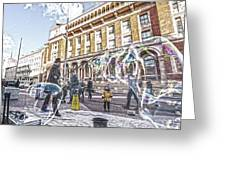 London Bubbles B Greeting Card