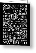London Bus Roll Greeting Card by Michael Tompsett