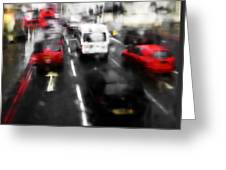London By Bus Greeting Card