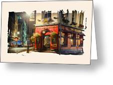London Cafe Pf Greeting Card