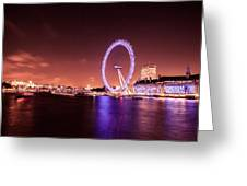 London Cityscape On River Thames Greeting Card