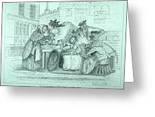 London Coffee Stall Greeting Card