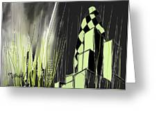London E1 Skyline Abstract  Greeting Card