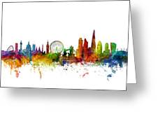 London England Skyline 16x20 Ratio Greeting Card
