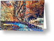 London Eye Abstract Greeting Card