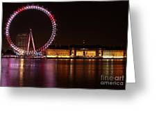 London Eye At Night Greeting Card