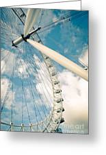 London Eye Ferris Wheel Greeting Card by Andy Smy