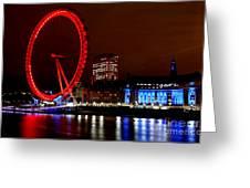 London Eye Greeting Card by Heather Applegate