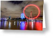 London Eye Greeting Card by Ivelin Donchev