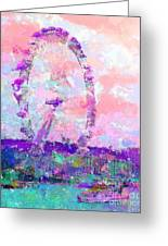 London Eye Greeting Card by Marilyn Sholin