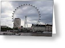 London Eye View Greeting Card