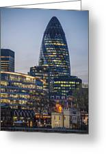 London Financial District Greeting Card