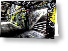 London Graffiti Art Greeting Card