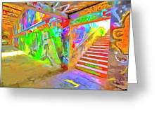 London Graffiti Pop Art Greeting Card