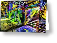 London Graffiti Van Gogh Greeting Card
