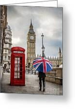 London Lady Greeting Card