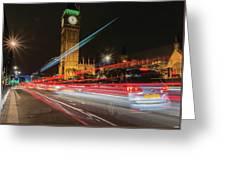 London Lit Greeting Card