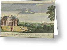 London Magazine, London South East View Of Gloucester Lodge In Windsor Great Park Published Aug 1780 Greeting Card