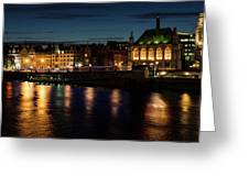 London Night Magic - Colorful Reflections On The Thames River Greeting Card