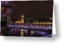London Nights Greeting Card
