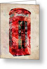 London Phone Box Urban Art Greeting Card