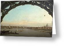 London Seen Through An Arch Of Westminster Bridge Greeting Card
