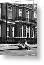 London Sixties Lambretta Greeting Card