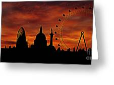 London Skyline At Dusk Greeting Card