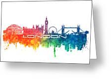 London Skyline City Color Greeting Card