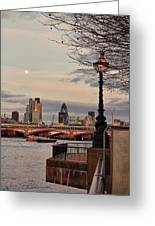 London Skyline From The South Bank Greeting Card