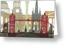 London Skyline Poster Greeting Card