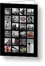 London Squares Greeting Card