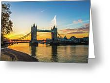 London Sunrise 2 Greeting Card