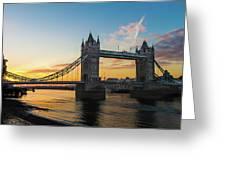 London Sunrise Greeting Card