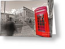 London Telephone 2 C Greeting Card