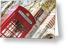 London Telephone 3 Greeting Card