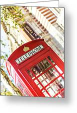 London Telephone 3 Greeting Card