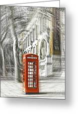 London Telephone C Greeting Card
