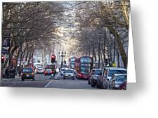 London Thoroughfare Greeting Card