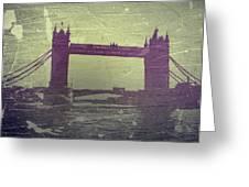 London Tower Bridge Greeting Card by Naxart Studio