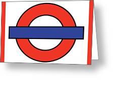 London Underground Blank Greeting Card