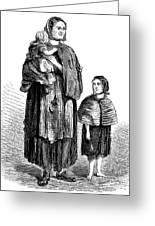 London, Vagrants, 1861 Greeting Card