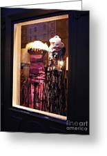 London Window By Night Greeting Card