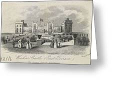 London Windsor Castle East Terrace, The Queen's Private Apartments Greeting Card