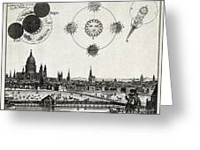 London With Eclipse Diagram, 1748 Greeting Card