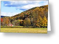 Lone Barn Fall Color Greeting Card