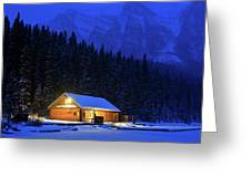 Lone Cabin In The Rockies Greeting Card