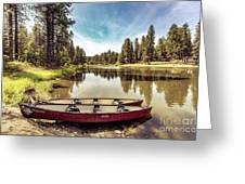 Lone Canoes, Winchester Lake Greeting Card