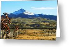 Lone Cone Mountain Greeting Card