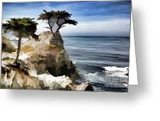 Lone Cypress Tree Pebble Beach  Greeting Card